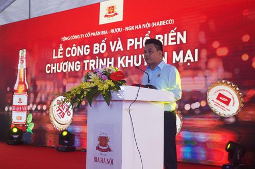 Ông Bùi Trường Thắng - Phó TGĐ Tổng công ty phát biểu tại buổi lễ