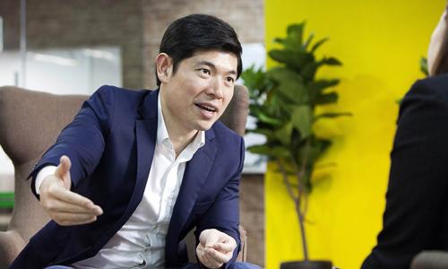 Anthony Tan - nhà đồng sáng lập, kiêm CEO Grab. Ảnh: Bloomberg.