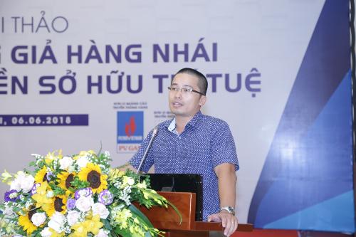 Ông Trương Quốc Việt - Trưởng phòng Pháp chế Công ty Cổ Phần Sky Music phát biểu tại buổi lễ.
