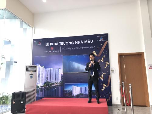 Ông Nguyễn Quốc Quý - Tổng Giám đốc Công ty cổ phần Đất Xanh Premium phát biểu tại lễ khai trương.