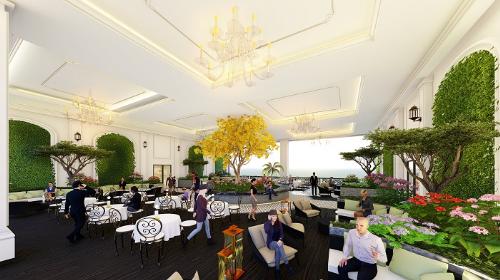 Chủ đầu tư đã dành một phần diện tích xây dựng căn hộ để thiết lập vườn sinh hoạt cộng đồng ngay tại các tầng của Sunshine Garden.