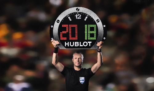 Hublot là thương hiệu đồng hồ bảo trợ chính thức cho FIFA World Cup từ năm 2010 và tiếp tục đồng hành tại giải đấu năm nay.