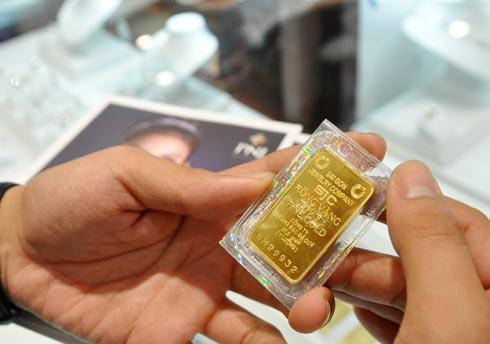 Giá vàng tăng vài chục nghìn đồng sáng nay. Ảnh: PV.