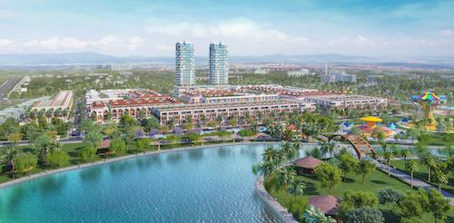 Phối cảnh dự án Barya Citi với khu phức hợp gồm nhà phố, khu căn hộ.