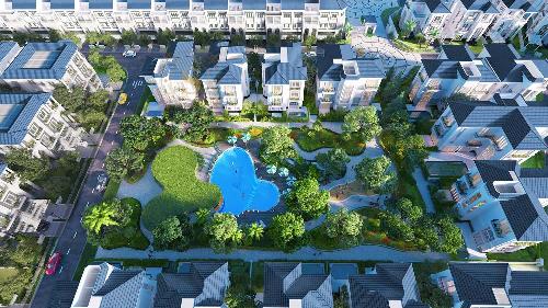 Cây xanh đã trở thành ngôn ngữ kiến trúc của khu biệt thự Sol Villas