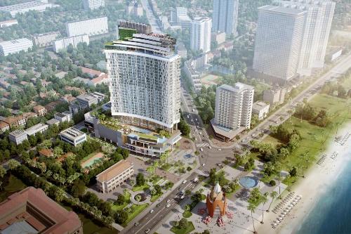 Thiết kế cánh buồm căng gió của A&B Central Square Nha Trang.