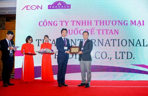 Titan là doanh nghiệp Việt Nam được Aeon vinh danh với giải thưởng Nhà cung cấp xuất sắc cho Aeon năm 2017.