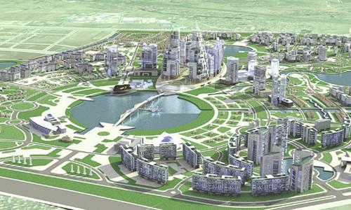 Phối cảnh dự án Khu đô thị Gia Lâm. Ảnh: Vingroup.