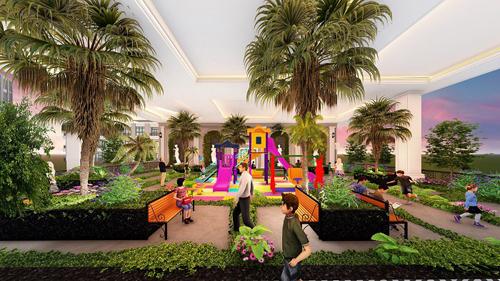 Sunshine Garden thu hẹp diện tích thương mại để xây dựng vườn sinh hoạt cộng đồng cho cư dân.
