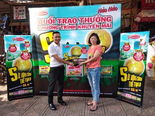 Chị Trần Thị Mai Dung ở Lý Thái Tổ, Bắc Giang trong buổi trao giải ngày 11/06.