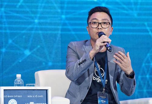 Ông Nguyễn Văn Vững - Đồng sáng lập và Giám đốc Bigbom, một startup sử dụng công nghệ blockchain trong lĩnh vực quảng cáo trực tuyến.