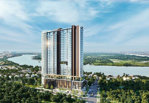 Tầm nhìn thực tế toàn cảnh sông Sài Gòn và bán đảo Thanh Đa từ dự án (Hình phối cảnh)
