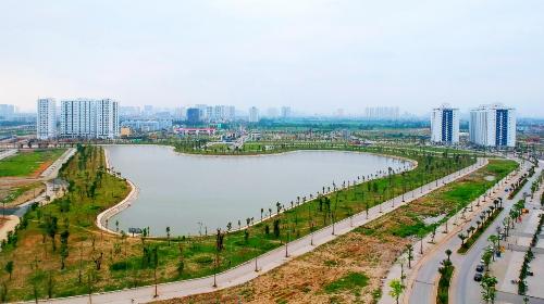 Hai hồ điều hòa diện tích 30ha trong lòng khu đô thị Thanh Hà Mường Thanh - 1