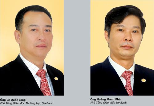 Hai lãnh đạo mới của SeABank. Ảnh: SeABank.