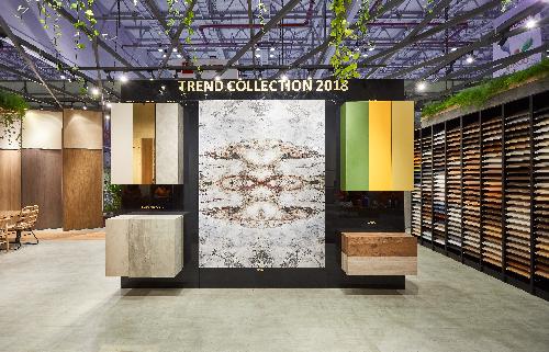 Điểm nhấn Trend Collection 2018 của gỗ An Cường tại Vietbuild HCM 2018.