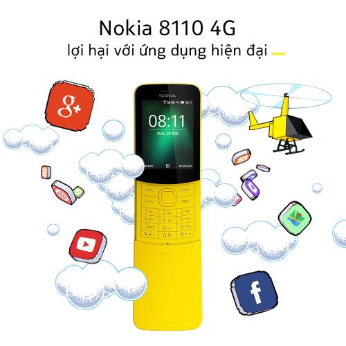 Trái chuối Nokia 8110 này được thêm vào khả năng truy cập 4G lợi hại.