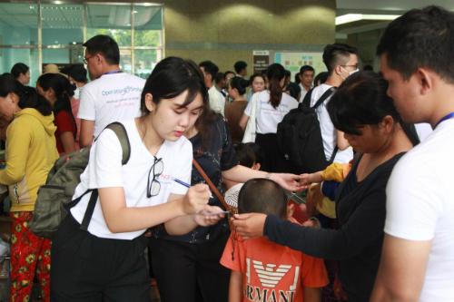 Đại diện của Tổ chức Operation Smile cảm ơn sự đồng hành và tài trợ của Ngân hàng NCB trong việc hỗ trợ đi lại, ăn uống và lưu trú cho người nhà bệnh nhân trong thời gian khám và phẫu thuật tại TP HCM. Tổ chức hy vọng NCB sẽ tiếp tục cùng sát cánh cùng Operation Smile mang lại nụ cười tươi sáng cho trẻ em Việt Nam trong tương lai.