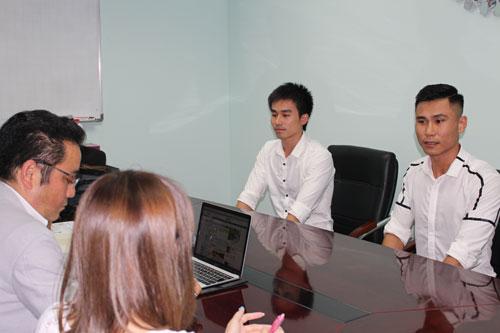 Buổi phỏng vấn với doanh nghiệp Nhật tại GTN Việt Nam.
