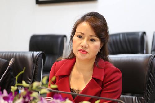Bà Chu Thị Bình tại buổi gặp báo chí chiều 26/6. Ảnh: Lệ Chi.