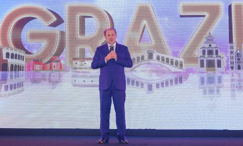 Tổng giám đốc Tập đoàn Generali, ông Philippe Donnet phát biểu tại sự kiện kỷ niệm 7 năm hoạt động tại Việt Nam của doanh nghiệp.
