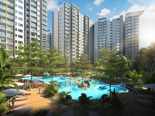 Ngoài ra doanh nghiệp nhận đánh giá cao ở 4 hạng mục đề cử khác về thiết kế khu căn hộ, phát triển căn hộ trung - cao cấp... Riêng dự án căn hộ Emerald thuộc Celadon City được ghi nhận là một trong những dự án khu căn hộ tầm trung - cao cấp xuất sắc nhất. Ảnh: Phối cảnh dự án Emerald.