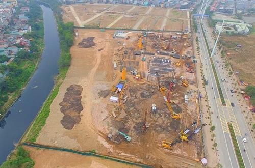 Một dự án Hải Phát Invest đang triển khai tại Hà Đông (Hà Nội). Ảnh: HPX.