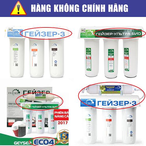 Minh Anh Water khẳng định, đây là những sản phẩm không phải là hàng chính hãng của Geyser Liên bang Nga.