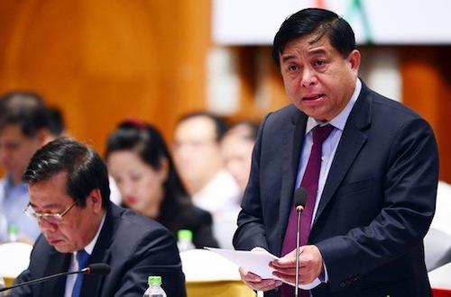 Bộ trưởng Kế hoạch & Đầu tư Nguyễn Chí Dũng phát biểu tại diễn đàn VBF giữa kỳ 2018.