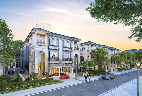 Biệt thự Sol Villas xây dựng theo lối kiến trúc tân cổ điển. Website và hotline 0926888777.
