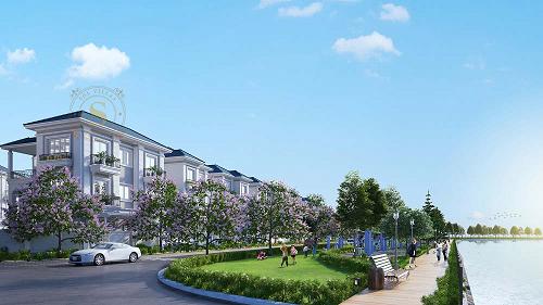Phối cảnh khu compound biệt thự cao cấp Sol Villas, đường Nguyễn Thị Định, Cát Lái, quận 2, TP HCM.
