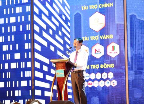 Ông Nguyễn Mạnh Hà - Chủ tịch Hội Môi giới bất động sản Việt Nam phát biểu khai mạc chương trình năm 2018.