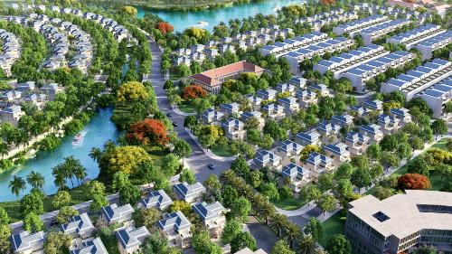 Một góc khu đô thị sinh thái ven sông King Bay