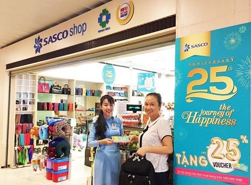 Sasco Shop tặng phiếu giảm giá 25% áp dụng cho lần mua hàng tiếp theo.