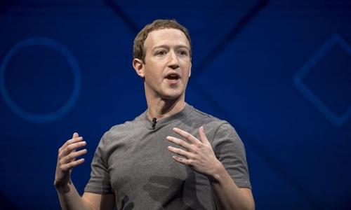 Ông chủ Facebook - Mark Zuckerberg trong một sự kiện công nghệ. Ảnh: Bloomberg
