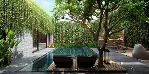 Không gian biệt thự vừa đảm bảo riêng tư vừa hòa quyện với thiên nhiên tại Wyndham Garden.