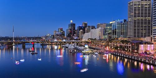Khu trung tâm thương mại cảng Darling (Australia). Ảnh: Shutterstock.
