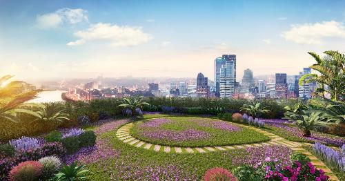 Vườn chân mây bình yên và lãng mạn tại Imperia Sky Garden. Thông tin chi tiết liên hệ: