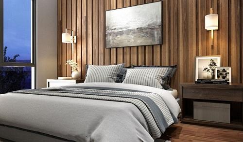 Phối cảnh không gian nội thất hiện đại của căn hộ Cosmo City.