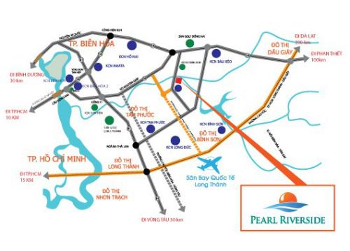 Bản đồ vị trí dự án Pearl Riverside