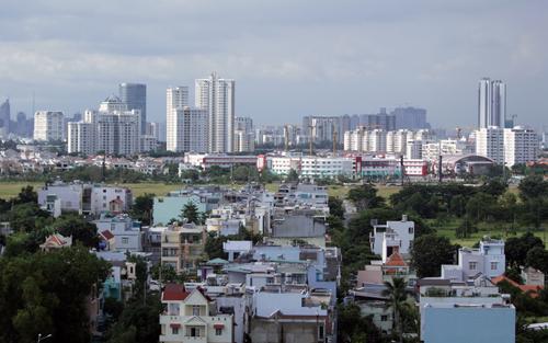 Một phần khu đô thị Nam Sài Gòn. Ảnh: Duy Trần.