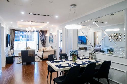 Căn hộ Sunshine Garden được thiết kế sang trọng với nội thất cao cấp.