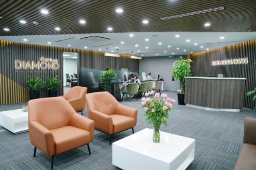 Không gian phòng giao dịch VPBank Diamond Elite tại Hà Nội.