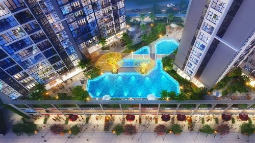 Bể bơi cỡ lớn với thiết kế hiện đại là điểm nhấn về cảnh quan và tiện ích của dự án  Căn hộ đạt chuẩn Eco, thiết bị nội thất đẳng cấp quốc tế  Lấy cảm hứng từ không gian sống xanh an lành giữa phố thị, dự án Eco-Green Saigon được xây dựng hài hòa giữa 2 yếu tố Eco và City, bằng kinh nghiệm thiết kế của hãng kiến trúc Australia-Plus Architecture. Theo đó, tất cả các tòa nhà tại dự án được thiết kế với 3 cạnh tạo hình như những cánh quạt đón gió, nhờ vậy mà mỗi tòa nhà đều có 3 mặt thoáng với 4 hướng view trải rộng về phía trung tâm Quận 1, công viên Hương Tràm, Quận 2, hồ bơi và công viên nội khu.  Mật độ xây dựng khoa học, chỉ 11 căn hộ trên một mặt bằng tầng và có đến 10/11 căn hộ đều là các căn góc với 2 mặt thoáng, diện tích linh hoạt từ 50  95m2 bố trí 1  3 phòng ngủ có thể đáp ứng được nhu cầu đa dạng của khách hàng.