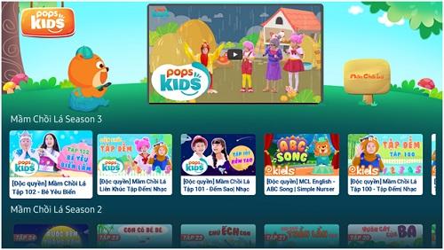 Giao diện của ứng dụng POPS Kids - sản phẩm chuyển mình của POP.