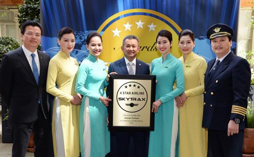 Vietnam Airlines năm thứ 3 liên tiếp nhận chứng chỉ hãng hàng không quốc tế 4 sao của Skytrax.