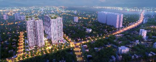 Imperia Sky Garden nằm trên tuyến đường Minh Khai huyết mạch đang được mở rộng