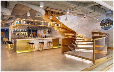 Quầy bar sang trọng sẵn sàng phục vụ khách VIP với các loại thức uống Elixir.