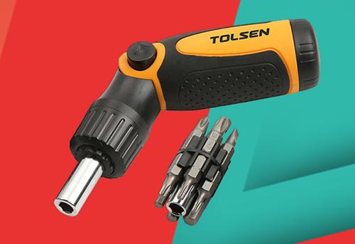 Bộ vít tự động Tolsen20040 ưu đãi còn 104.300 đồng, trong khi giá gốc 165.000 đồng. Bộ sản phẩm gồm 12 mũi và một tô vít tiện dụng. Chất liệu kim loại sáng bóng, bền bỉ và phần tay cầm thiết kế chắc chắn, vừa vặn