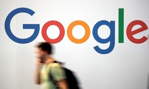 Logo Google tại một hội nghị về công nghệ tại Pháp hồi tháng 5. Ảnh: Reuters