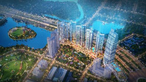 Toàn cảnh tổ hợp căn hộ cao cấp sắp ra mắt tại khu Nam Sài Gòn với quy mô 14,36ha.